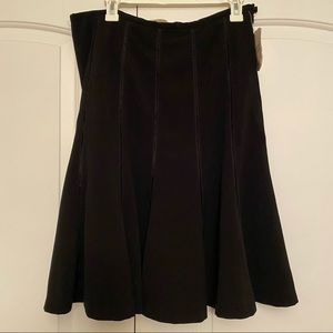 Black midi circle skirt